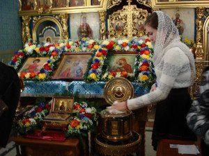 Святые мощи во Владимирском храме г.Мытищи